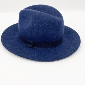 Banana Republic Blue  Fedora Wool Felt Hat
